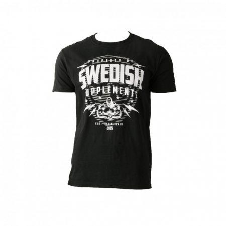 """Fekete """"Swedish-Supplements"""" póló"""