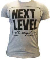 """Szürke """"Next Level"""" póló"""