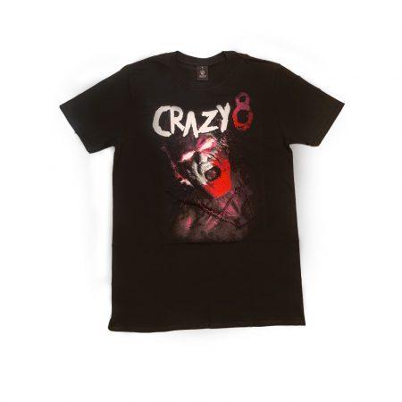 """Fekete """"Crazy8"""" póló"""